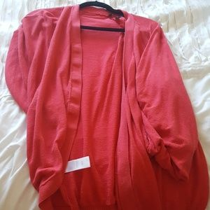 Red BCBG cardigan